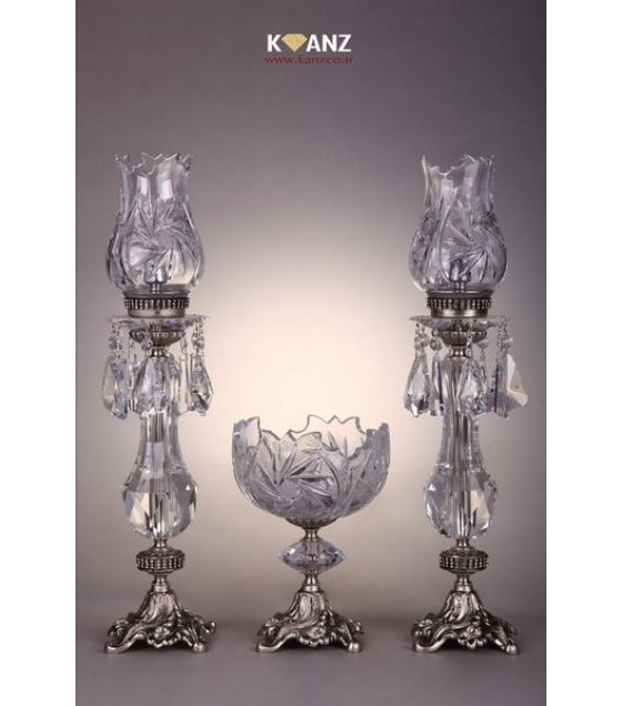 شمعدان امپراطور خورشیدی با کاسه آجیل