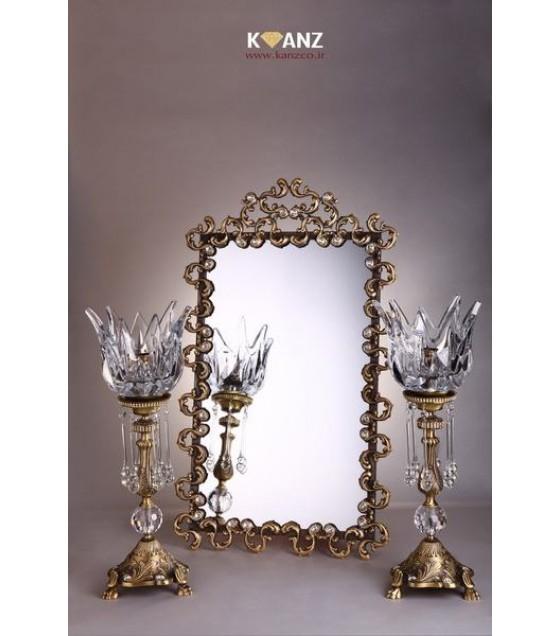 شمعدان لوتوس با آینه