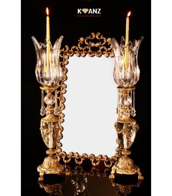 شمعدان لوتوس کله قوچی با آینه