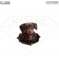 مجسمه برنز جاسیگاری سگ