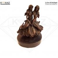 مجسمه برنز جاجواهری زن و صدف