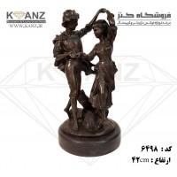 مجسمه برنز دختر پسر رقاص