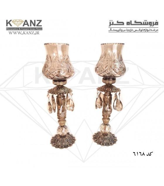 شمعدان خورشیدی با لاله ساسانی